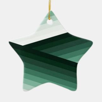 Ruhiger zeitgenössischer grüner Ombre Entwurf Keramik Ornament
