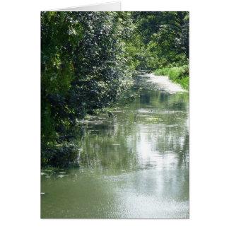 Ruhiges Fluss-Fließen Karte