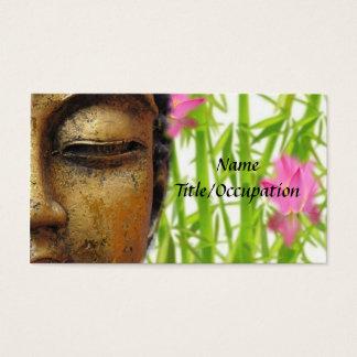 Ruhiges Gold Buddha und BlumenVisitenkarte Visitenkarten