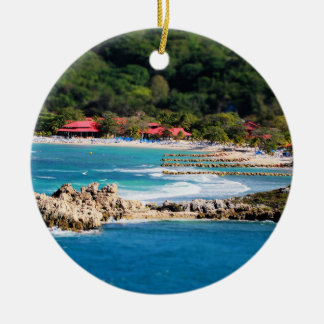 Ruhiges Insel-Paradies Labadee Haiti Keramik Ornament