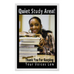 Ruhiges Studiengebiet-akademische Bibliotheks-Plak Plakat