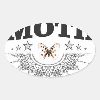 Ruhm der Motte Ovaler Aufkleber