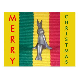 Ruhm-Farben frohe Weihnacht-Kingstons Jamaika Postkarte