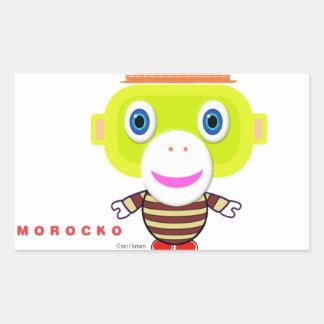 Ruhm Tag-Niedlicher Affe-Morocko Rechteckiger Aufkleber