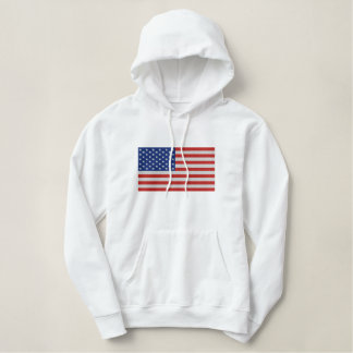 Ruhm-US Flagge US-Flagge der Damen alte Bestickter Hoodie