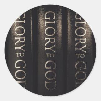 Ruhm zum Gott Runder Aufkleber
