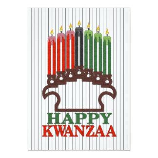 Ruhm zum Traditions-Kwanzaa-Feiertags-Party lädt Karte