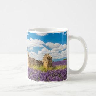 Ruine auf dem Lavendel-Gebiet, Frankreich Kaffeetasse