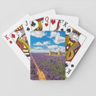 Ruine auf dem Lavendel-Gebiet, Frankreich Spielkarten
