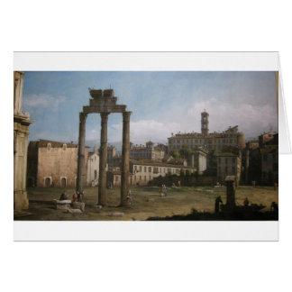 Ruinen des Forums, Rom durch Bernardo Bellotto Karte