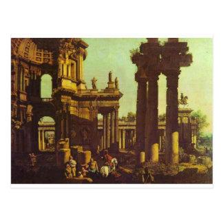 Ruinen eines Tempels durch Bernardo Bellotto Postkarte