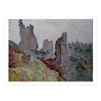 Ruinen im Nebel bei Crozant, 1894 (Öl auf Leinwand Postkarten