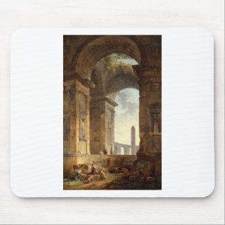 Ruinen mit einem Obelisk im Abstand durch Hubert Mauspad