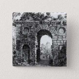 Ruinen mitten in Kew Gärten, 'vom Gard Quadratischer Button 5,1 Cm