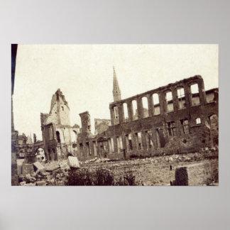 Ruinen nahe der Pulver-Zeitschrift, Ypres, im Juni Posterdruck