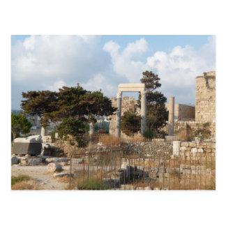 Ruinen von Byblos Postkarte