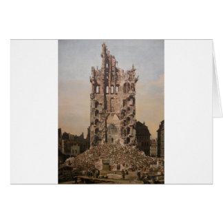 Ruinen von Dresdens Kreuzkirche Bernardo Bellotto Karte
