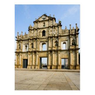 Ruinen von St Paul Kathedrale Postkarte