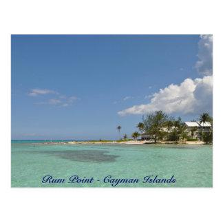 Rum-Punkt - die Kaimaninseln Postkarte
