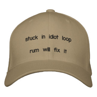 Rum-Verlegenheit Bestickte Kappe