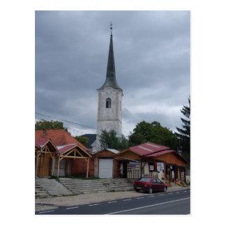 Rumänien-, Dorfkirche und Handwerksställe Postkarte