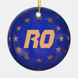 Rumänien E.U. Christmas Ornament