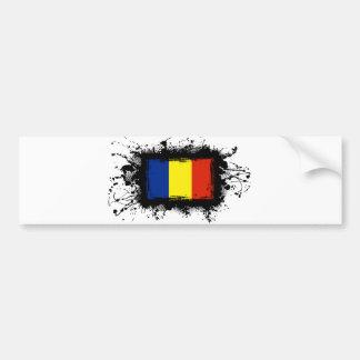Rumänien-Flagge Autoaufkleber