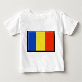 Rumänien-Flagge Baby T-shirt