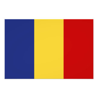 Rumänien-Flagge Fotodruck