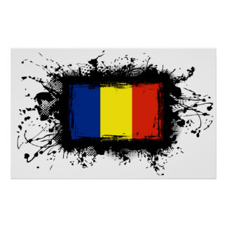Rumänien-Flagge Poster
