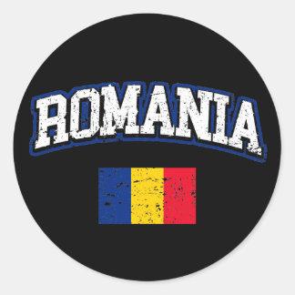 Rumänien-Flagge Runder Aufkleber