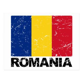 Rumänien-Flagge Vintag Postkarte