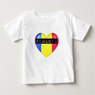 Rumänien-Flaggen-Herz Baby T-shirt