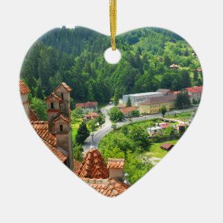 Rumänien Keramik Herz-Ornament