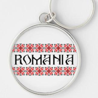 Rumänien-Landsymbolnamentext-Volkmotiv Schlüsselanhänger