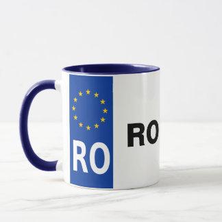 Rumänien-Lizenz-Platten-Tasse Tasse