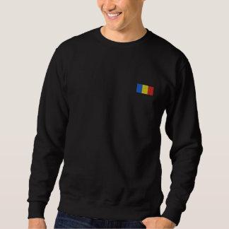 Rumänien-Schweiss-Shirt - rumänische Flagge Besticktes Sweatshirt