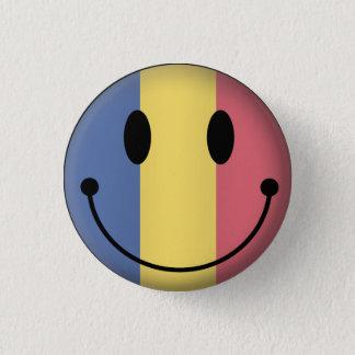 Rumänien-smiley Runder Button 2,5 Cm