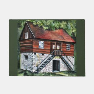 Rumänien - traditionelles Haus - Acrylmalerei Türmatte