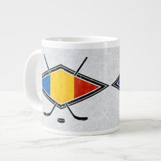Rumänische Eis-Hockey-Flaggen-Tasse Jumbo-Mug