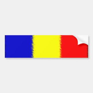 Rumänische Flagge Autoaufkleber