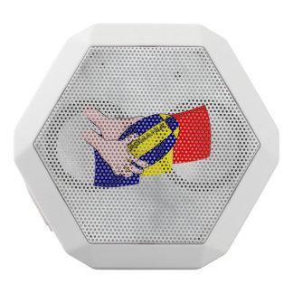 Rumänische Flaggen-Rumänien-Rugby-Anhänger Weiße Bluetooth Lautsprecher