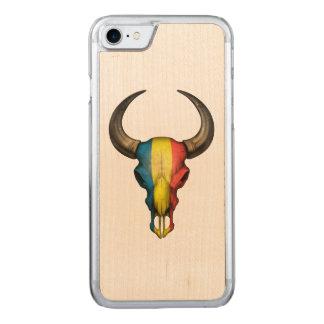 Rumänischer Flaggen-Stier-Schädel Carved iPhone 8/7 Hülle