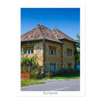 Rumänisches Haus Postkarte