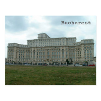 Rumänisches Parlament Postkarte