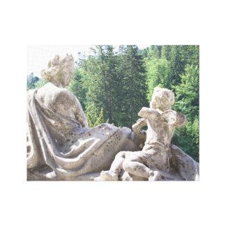 Rumänisches Statue-Druck Peles Schloss Leinwanddruck