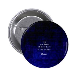 Rumi Inspirational Liebe-Zitat über Gefühle Runder Button 5,1 Cm