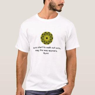 Rumi Inspirational Zitat-Sprichwort über Glauben T-Shirt