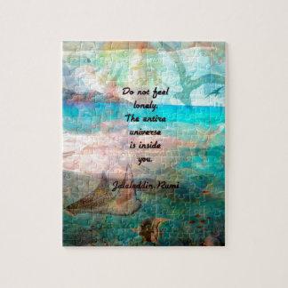 Rumi Inspirations-Zitat über das Universum Puzzle