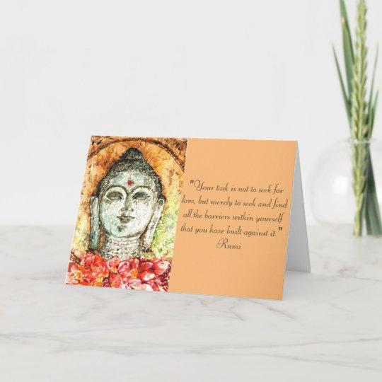 Rumi Liebe Zitat Buddha Kunst Gruß Karte Karte Zazzle De